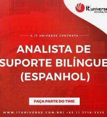ANALISTA DE SUPORTE ESPANHOL